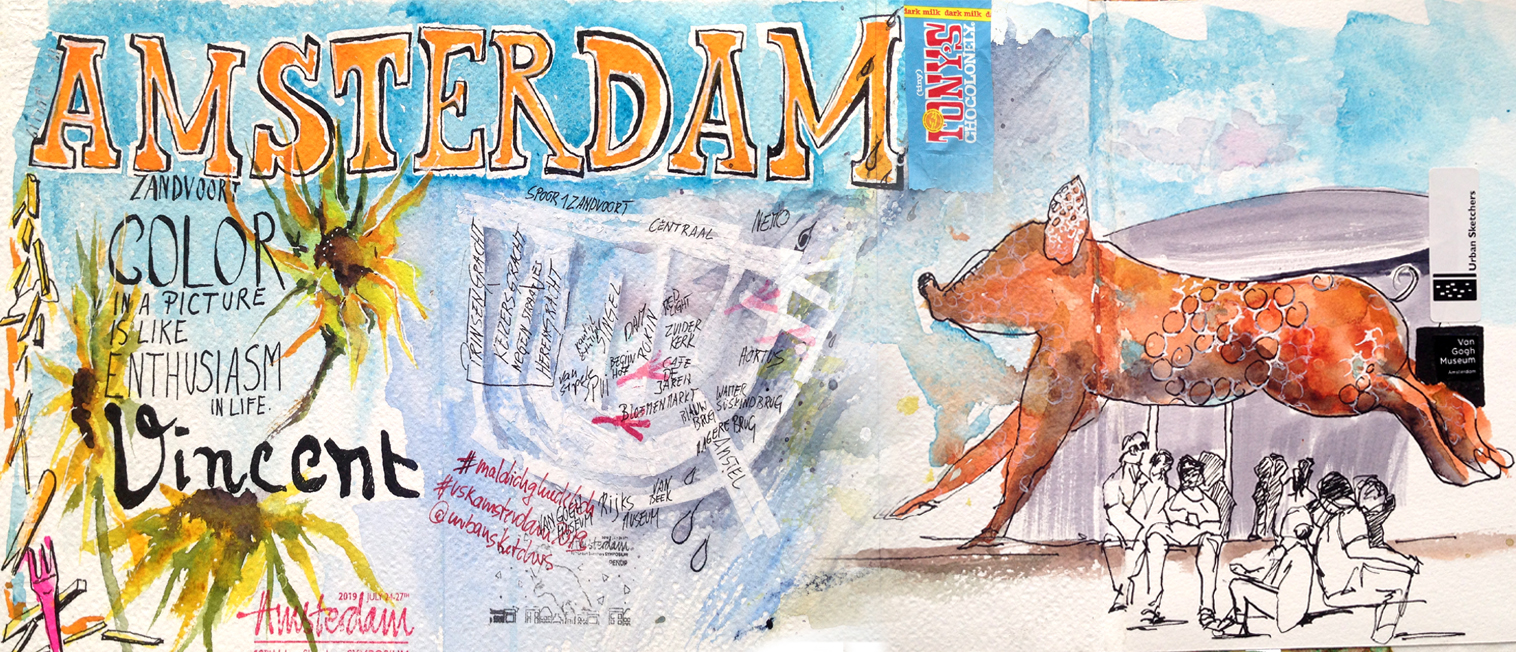 amsterdam-malreise-aquarell