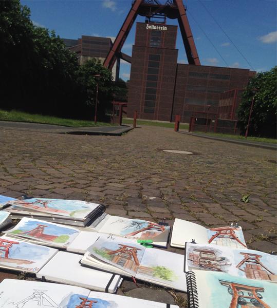urban-sketching-zeche-zollverein-3