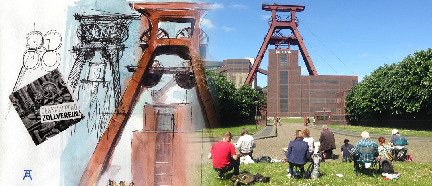 urban-sketching-zeche-zollverein-alexa