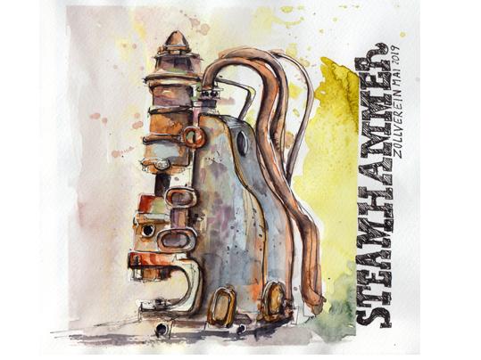 urban-sketching-zeche-zollverein