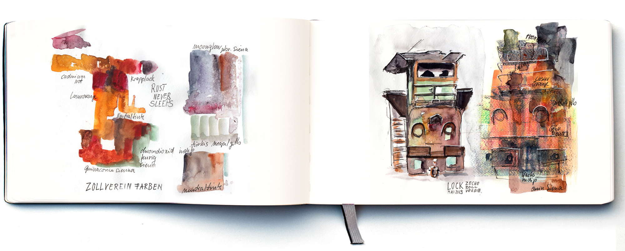 zeche-zollverein-urban-sketching-aquarell