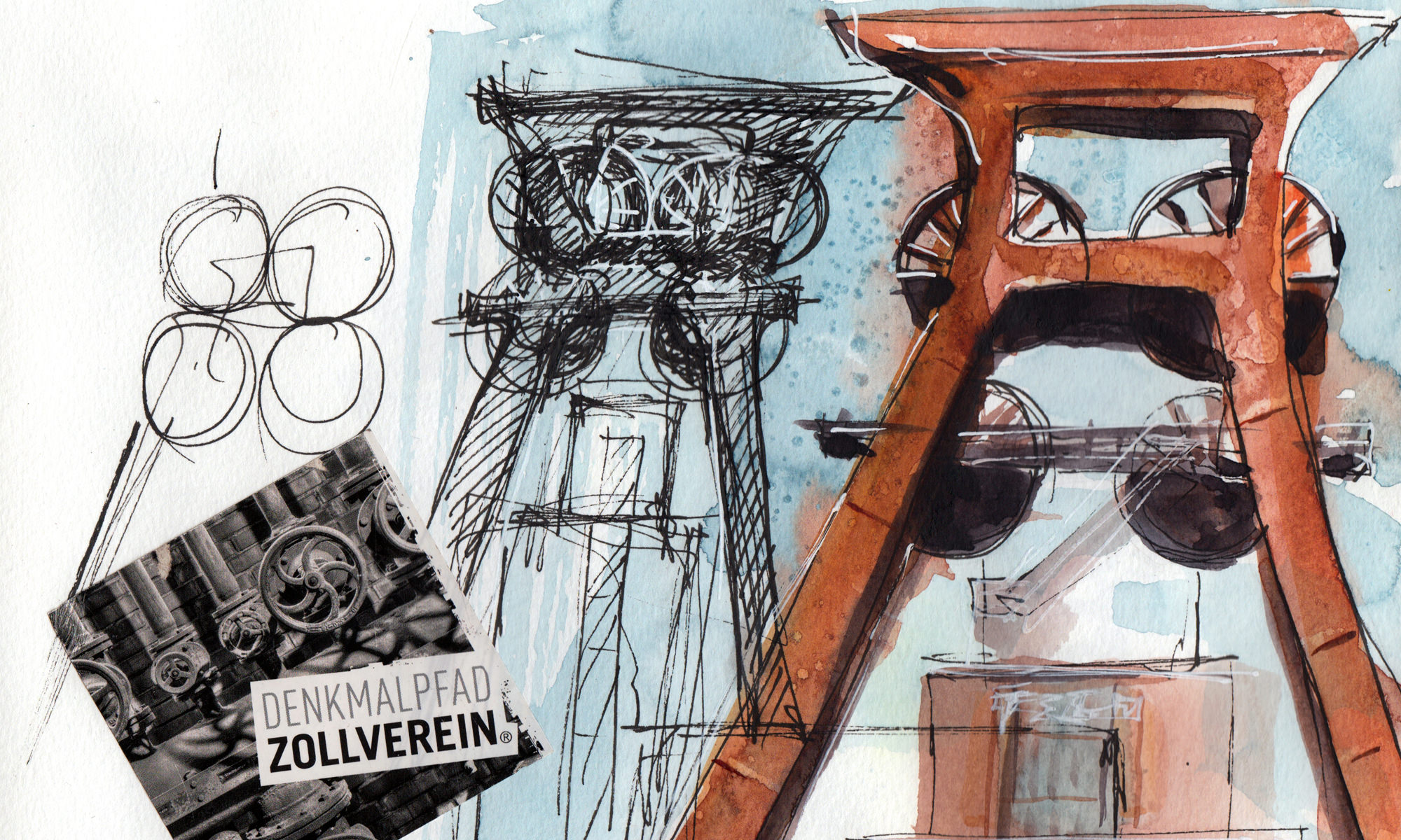 Aquarell Workshops Zeche Zollverein